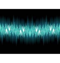 Bright sound wave on a dark green EPS 10 vector image vector image