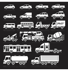 Cars icon black vector image vector image