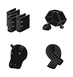 Comfort fashion and or web icon in black style vector