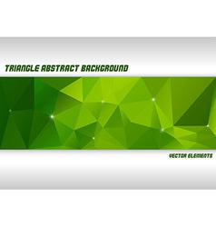 Green Triangles vector image vector image