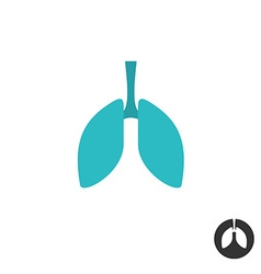 Lungs silhouette simple symbol Medical pharmacy vector image vector image