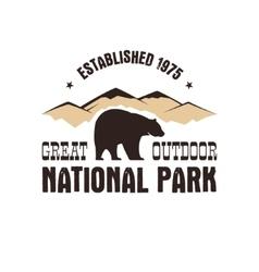 National park retro style badge Mountain explorer vector image vector image