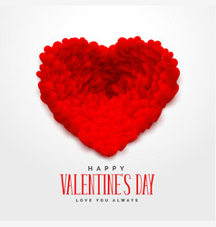 3d red hearts for happy valentines day vector image