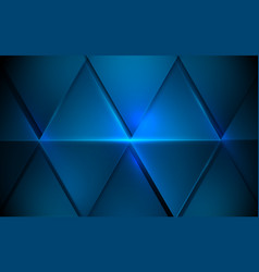 abstract blue triangles futuristic technology vector image