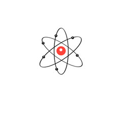 atom sign vector image