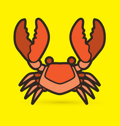 big crab graphic vector image