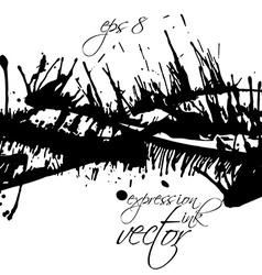 Black and white ink splash seamless pattern vector