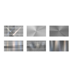 brushed metal steel metallic texture polished vector image