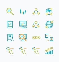 business finance online trading outline concept vector image