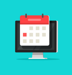 Calendar or agenda on computer screen vector