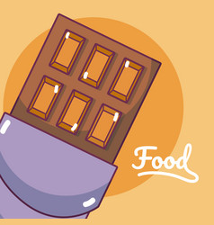 chocolate bar concept cartoon vector image