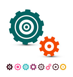 Cog gear icons set cogs gears symbols isolated on vector