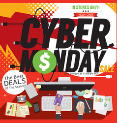 Colorful cyber monday banner vector