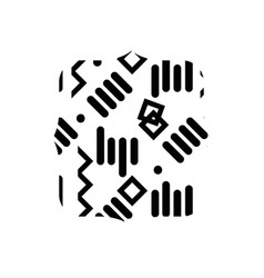 Contour quadrate with graphic memphis style vector