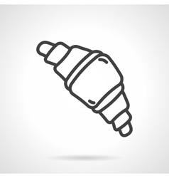 Croissant black line design icon vector image