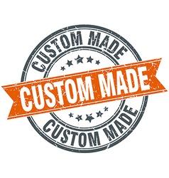 Custom made round orange grungy vintage isolated vector