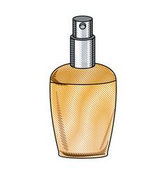 Draw elegant female perfume glamour aroma vector
