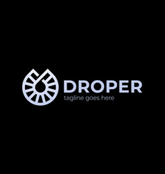 drop logo logo design template linear style vector image