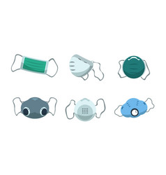 face mask disposable medical protection vector image