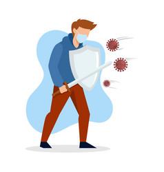 fight-virus2 vector image