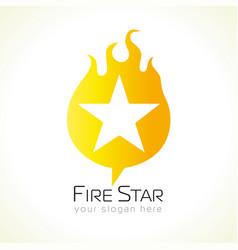 fire star logo vector image
