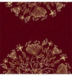 Floral card red vector