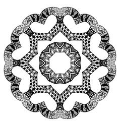 Futuristic round pattern vector