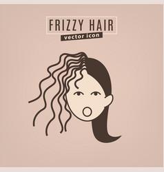Hair problem icon vector