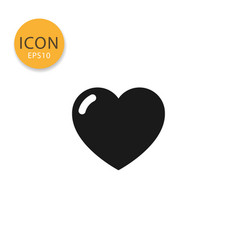 heart icon isolated flat style vector image