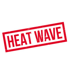 Heat wave rubber stamp vector