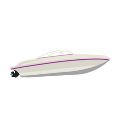 Isolated boat lateral view vector