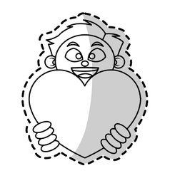 Isolated heart gift and boy design vector