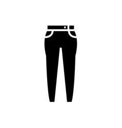 jeans icon black sign on vector image
