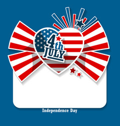 July 4th americas independence day vector