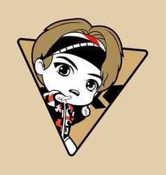 Kpop boy 9 vector