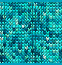 Light and dark blue green knit seamless pattern vector