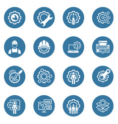 line engineering icons vector image