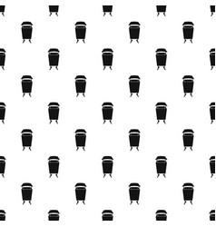 Litter waste bin pattern vector