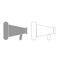 loud speaker or megaphone grey set icon vector image