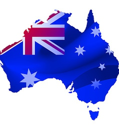Map australia with locations on a blue vector