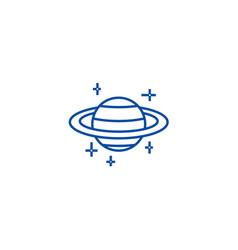 marsplanet line icon concept marsplanet flat vector image