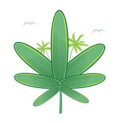 medical marijuana surfboard vector image