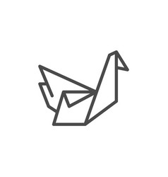 origami line outline icon and creativity concept vector image