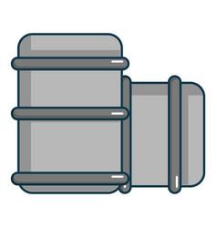 Paintball barell icon cartoon style vector