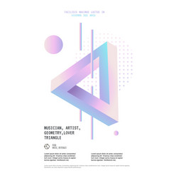 poster with optical penrose triangle vector image