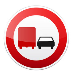 Road red sign on white background road traffic vector