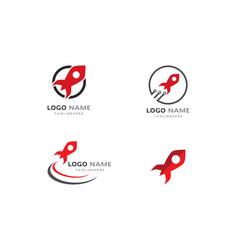 rocket ilustration logo vector image