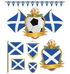 scotland flags vector image
