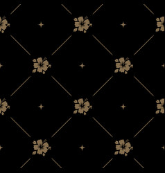 Seamless pattern background baroque with flower vector