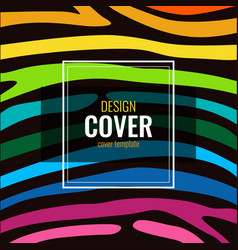 set design poster in color rainbow stripes on vector image